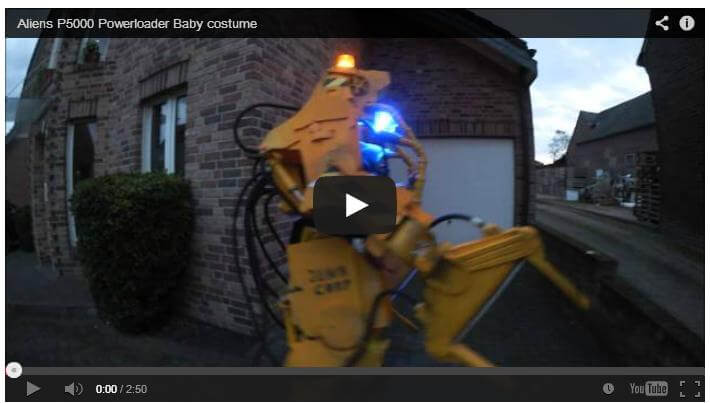 A Baby in a Caterpillar P5000 Powerloader from Aliens...