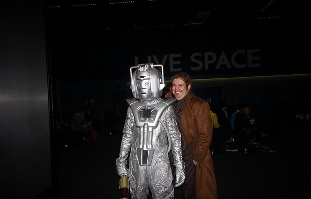 A Cyberman at Delete 50
