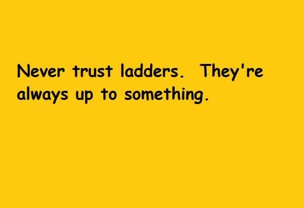 Never trust ladders
