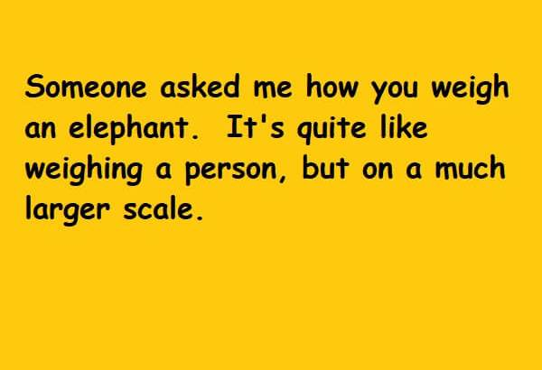 quite like weighing a person but on a much larger scale