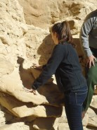 Ali participated to show how the Ancestral Pueboans ended up eating sand with their corn, which probably contributed to their short life spans.