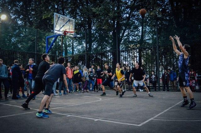 Строительство площадки для стритбола