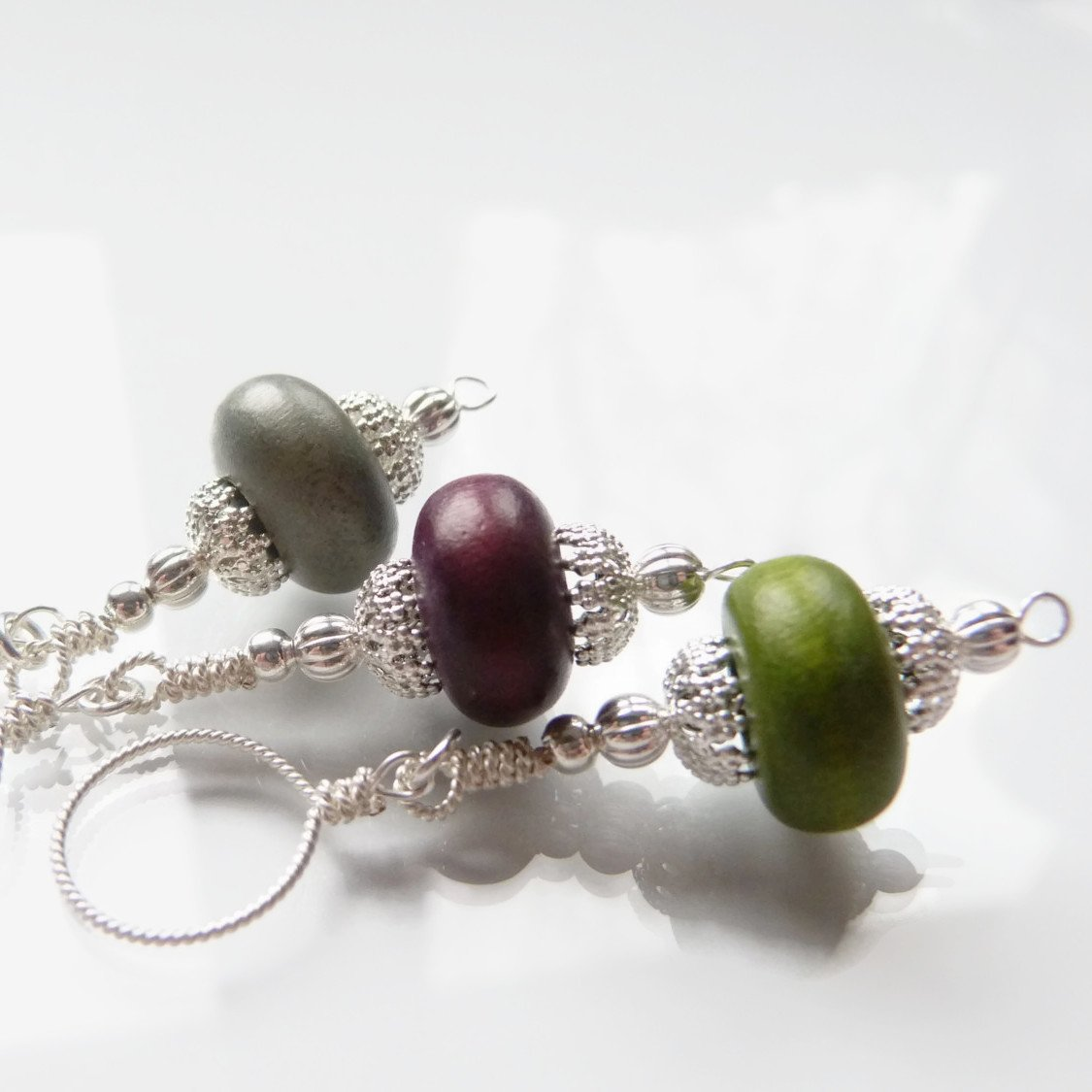Faerie Wood Knitting Stitch Marker
