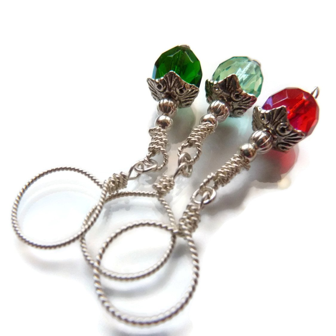Gem Drops Knitting Stitch Marker