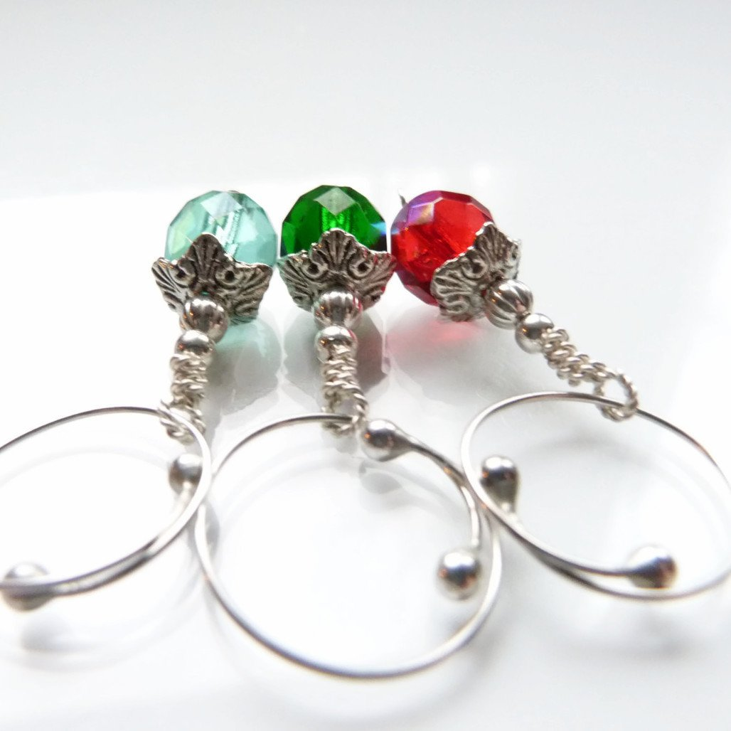 Gem Drops Removable Locking Stitch Marker