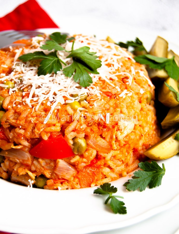 Easy Leftover Chicken, Tomato and Rice Casserole – Djuvec