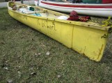 This canoe looked homemade