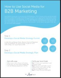Learn how to use Social Media for B2B
