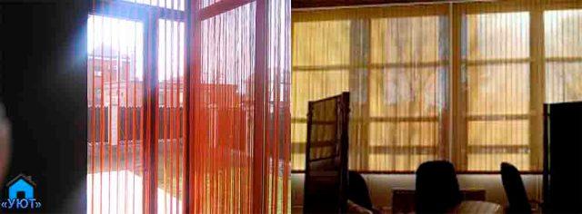 Рулонные жалюзи на большие окна