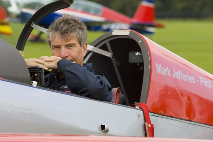 Mark Jefferies Air Displays in cockpit of G-IIUI