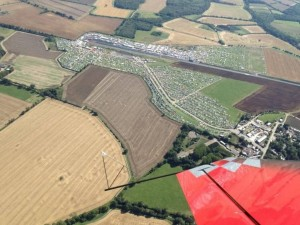 Santa Pod aerial photo taken prior to a show by Mark Jefferies Air Displays