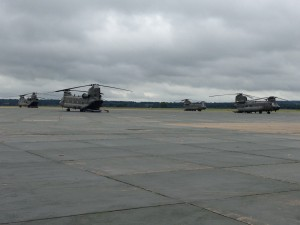 Chinook on the ramp at Odiham