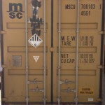 Sea container with GJOKR packed