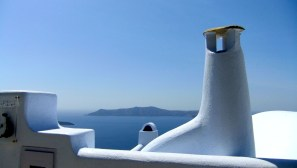 Roof top view, Santorini