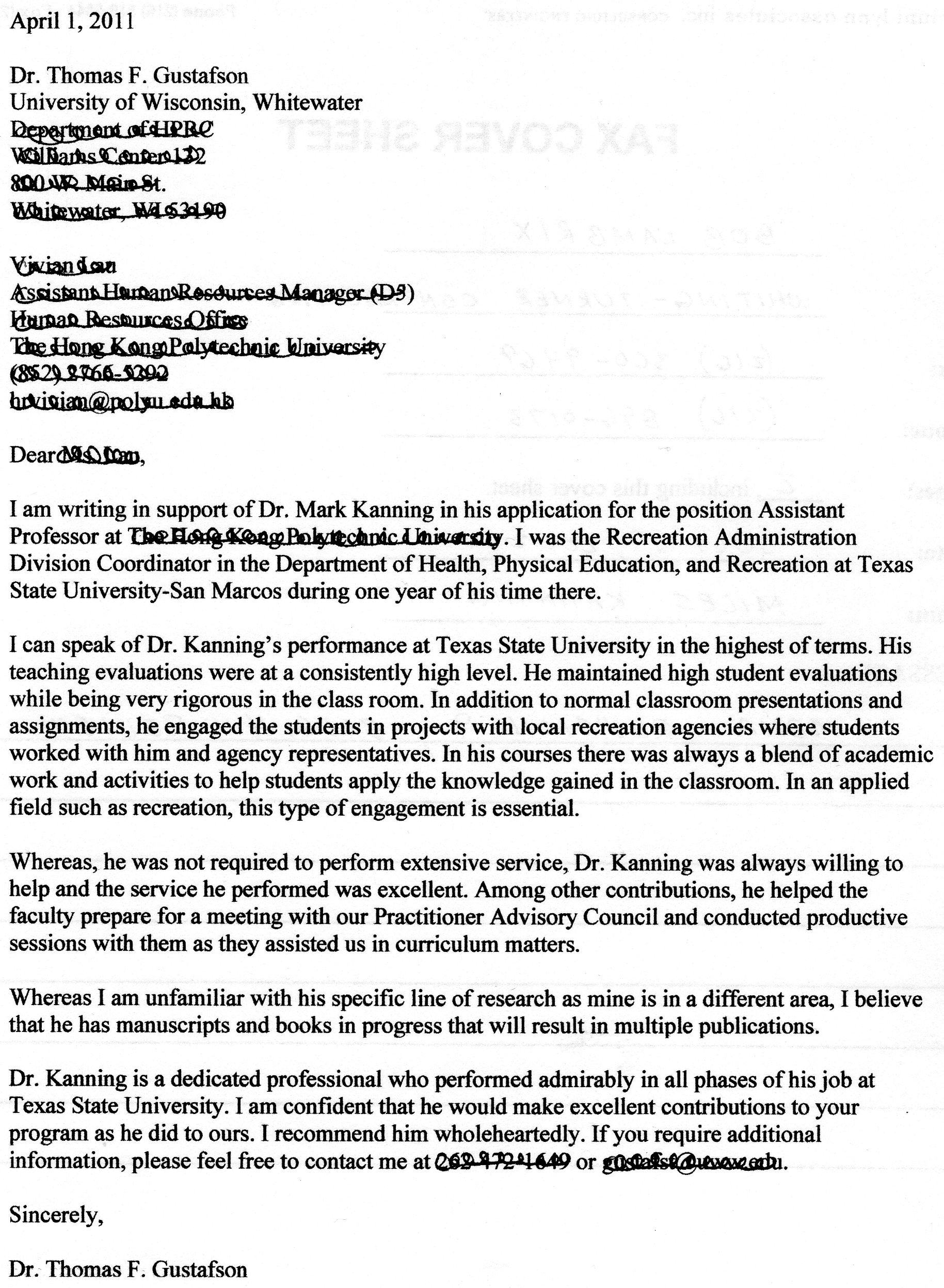 Sample Reference Letter For Graduate School From Coworker