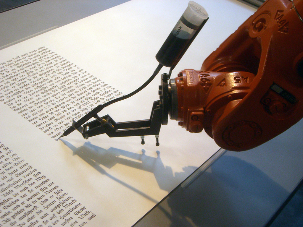 AI in Marketing image ROBOTLAB Writing Robot