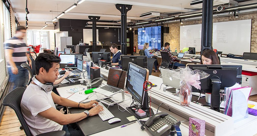 creative agency interior shot to illustrate digital skills in action