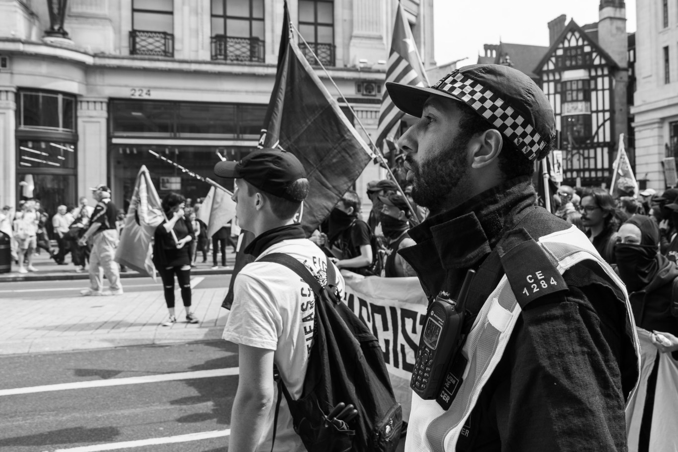 Police Manage Protest