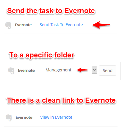 create an Evernote from Ayoa