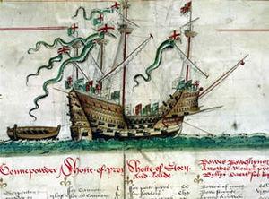 {{de|Das Kriegsschiff :de:Mary Rose, dargestel...