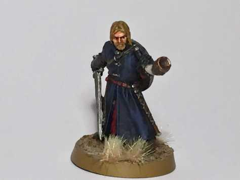 Boromir miniature painted by Mark Lord