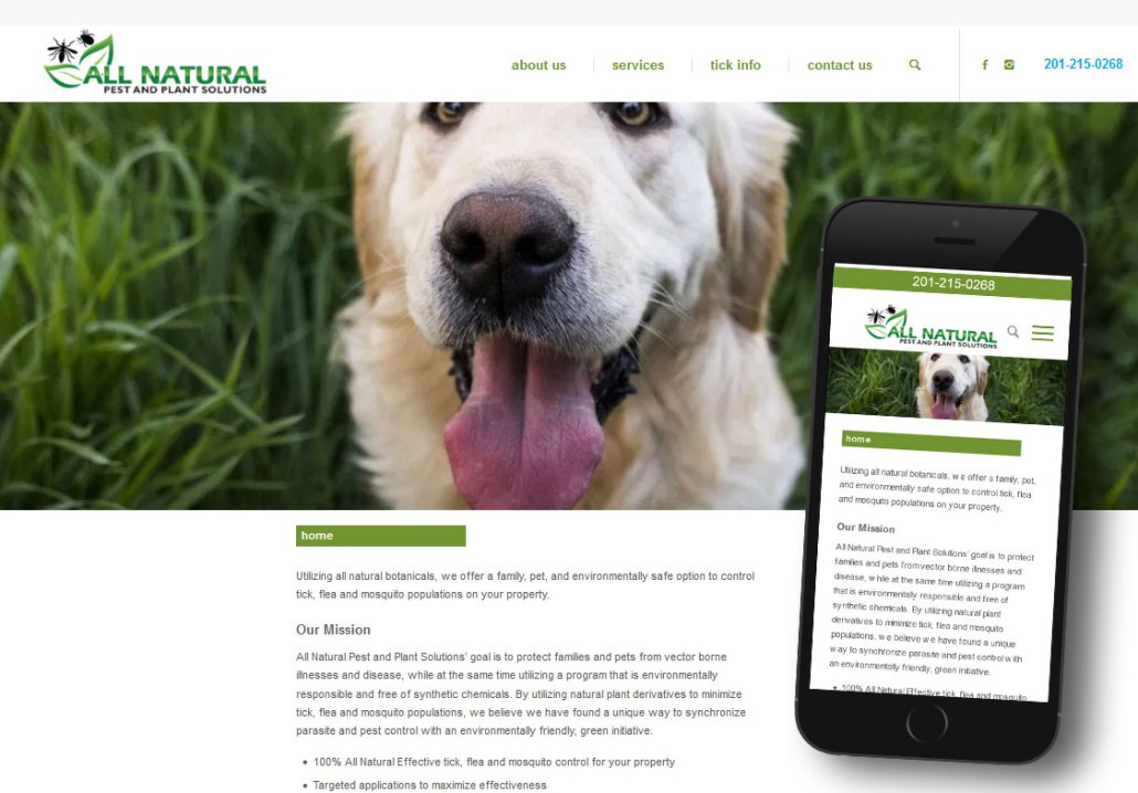 Responsive Website - All Natural Pest and Plant Solutions