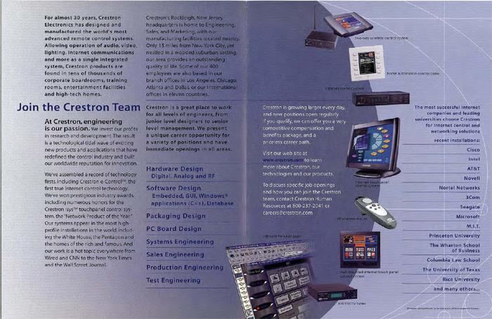 Crestron - Career Brochure