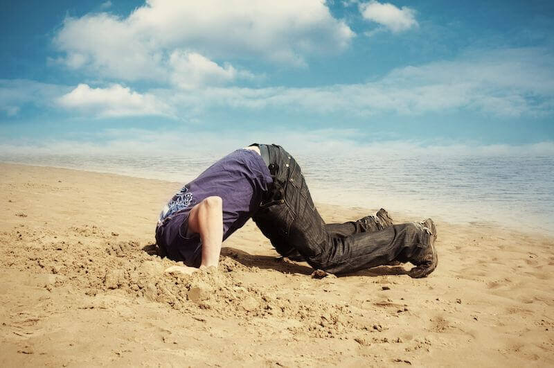 Living a life avoiding embarrassment is akin to living a life with your head in the sand. You won't find your life purpose here.
