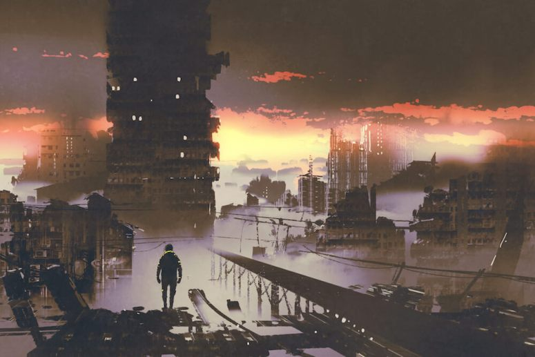 how to grow from your pain - destroyed cityscape
