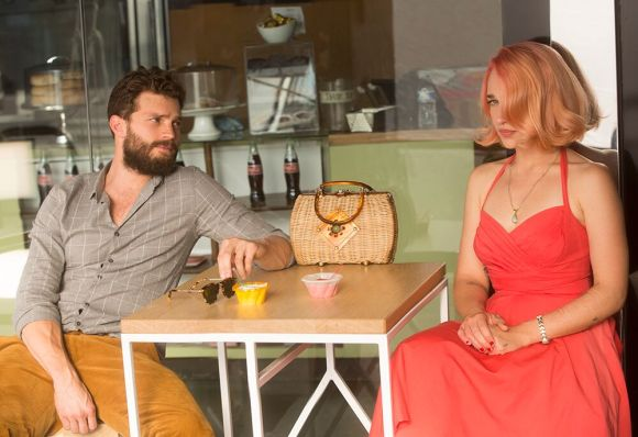 "Jamie Dorman and Jemima Kirke in ""Untogether."""