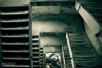 Az egyik panel lépcsőháza