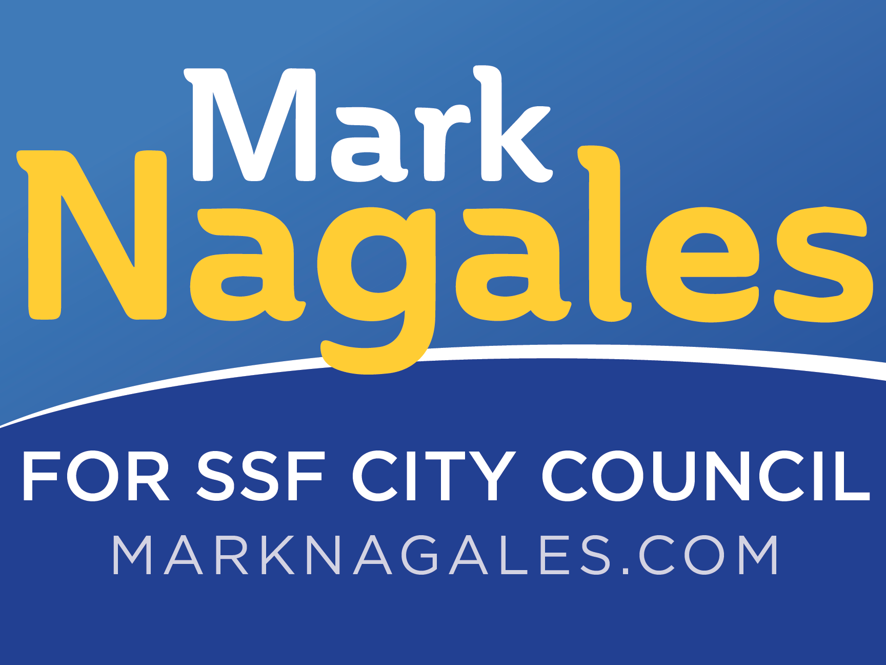 Mark Nagales for South San Francisco City Council 2018 - logo