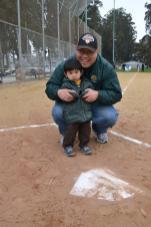 Me with my 2 year old son Aidan at the South San Francisco Little League Parade in 2013.