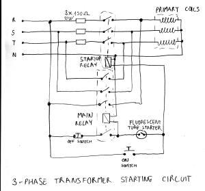 Variable transformer starter circuit | Marko's science site