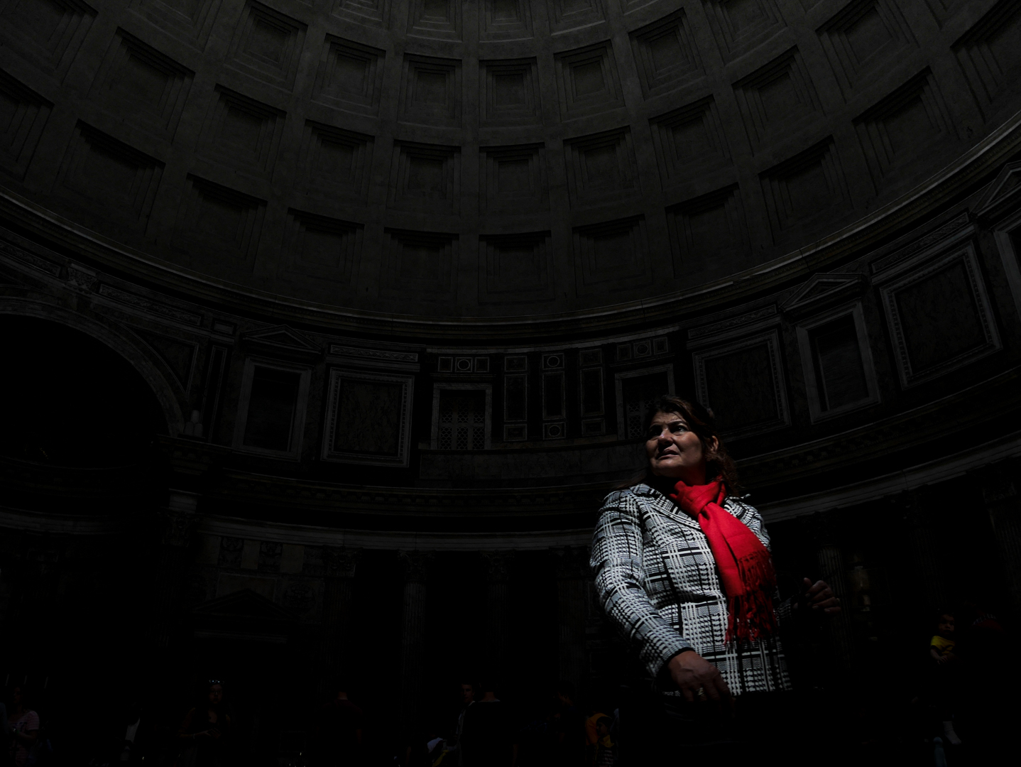 ITALY, Rome – A woman is visiting the Pantheon .  © Marko Kecma