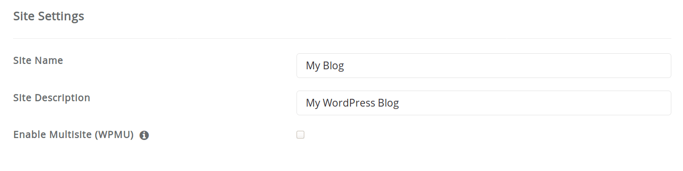 Choose your site name and description