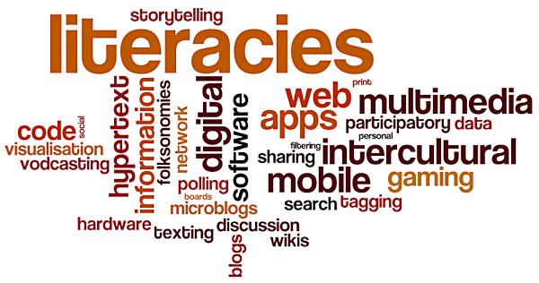 Digital literacies word cloud