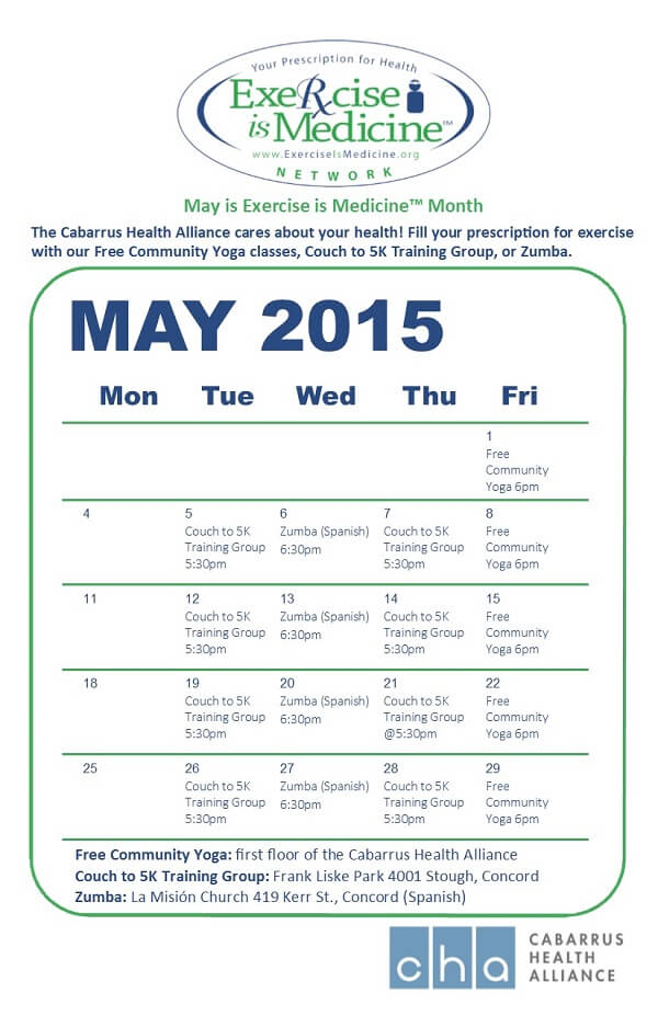 May is Exercis is Medicine Month. These are some ways you can join in.