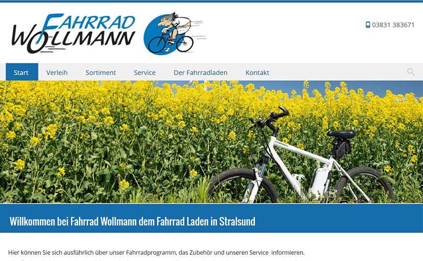 Webdesign für Fahrrad Wollmann