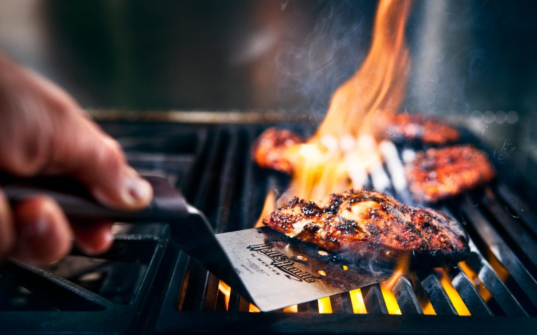 Using a Charcoal Grill