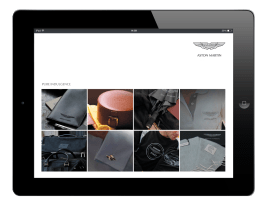 Aston Martin Digital Brochure design on ipad