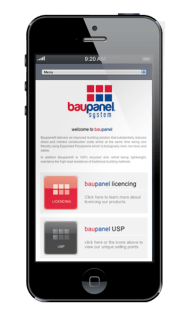 Baupanel Website design on iphone