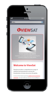 Viewsat Website design on iphone