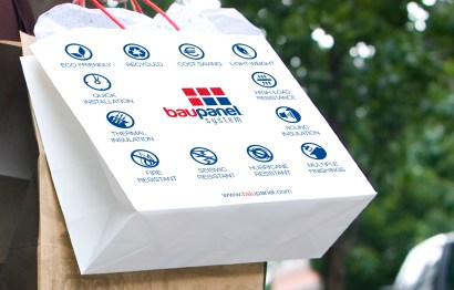 Baupanel Promotional Carrier Bags design