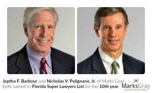 Barbour and Pulignano 10th year on Super Lawyer List