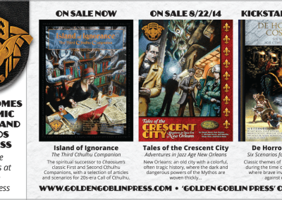 Golden Goblin Press Print Ad