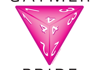 """""""Gaymer Pride"""" Pink D4 Design"""