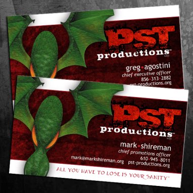 PST Productions Business Cards
