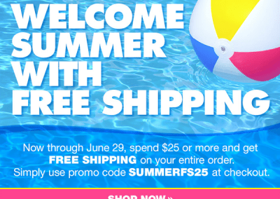Summer Free Shipping Promotion