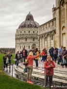 Tourists, Piazza dei Miracoli, Pisa, Tuscany, Italy